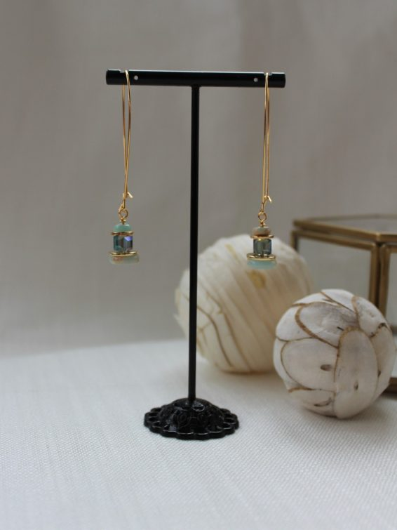 green gemstone earrings 1