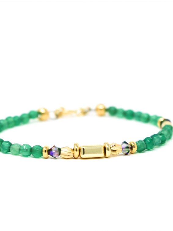 wilde emeralde skinny bracelet