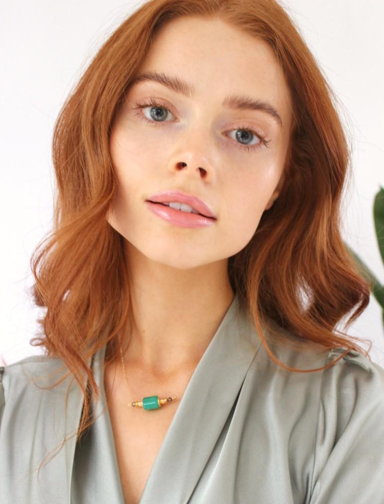 wilde emeralde chain necklace