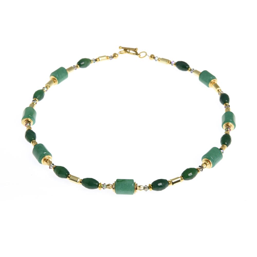 green gemstone statement necklace