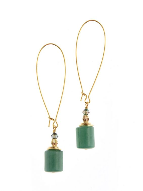 wilde emeralde column earrings