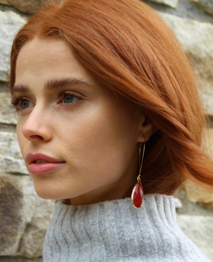 Goldstone Chalcedony Earrings