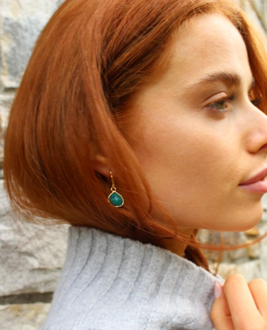Emerald Jade Teardrop Earrings