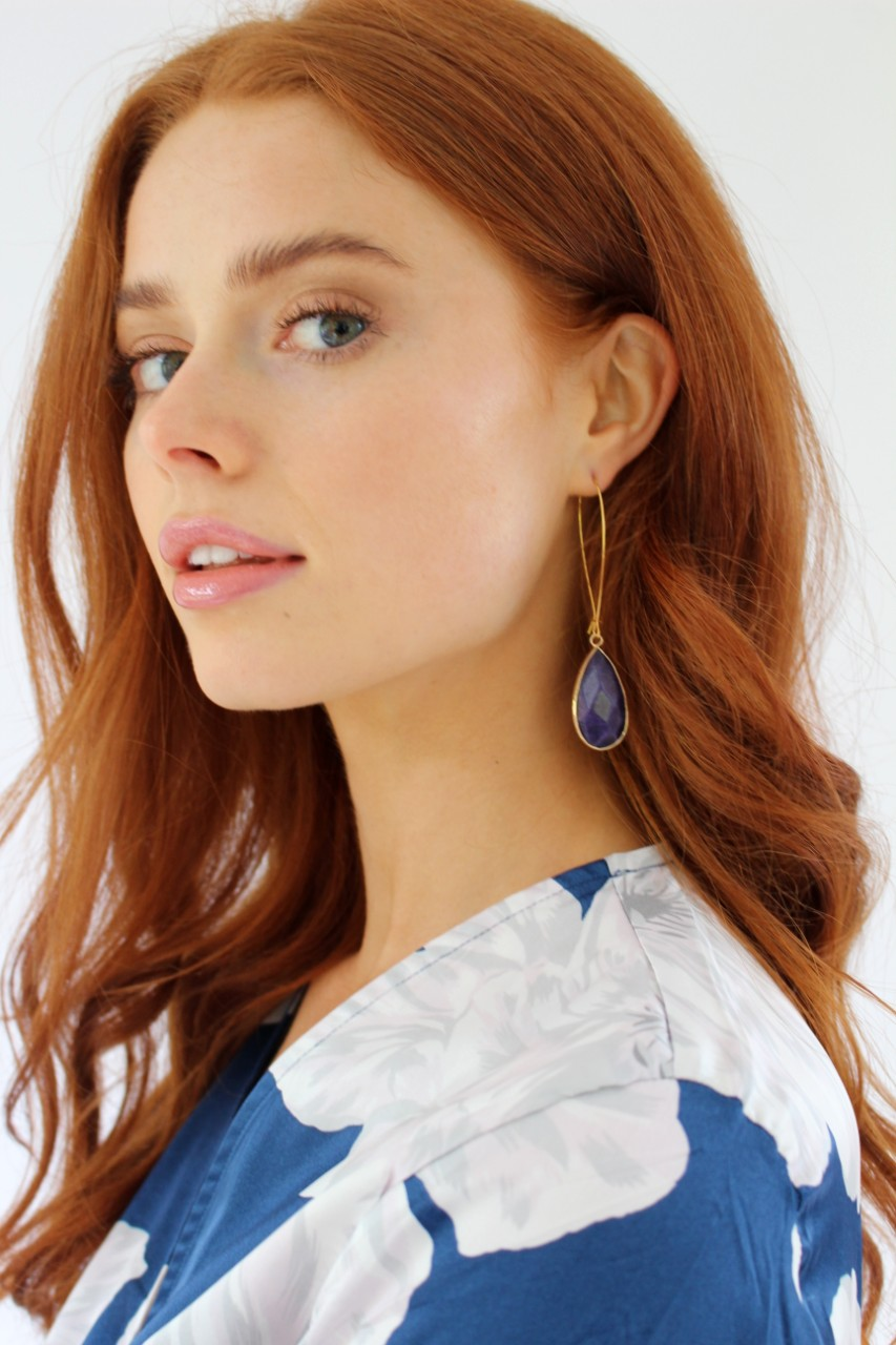 Lapis Chalcedony Earrings