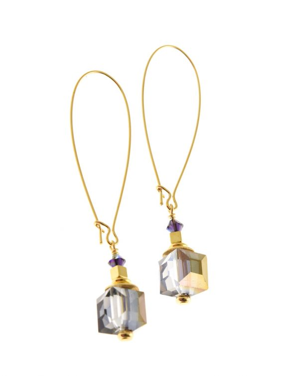 corcra cube earrings