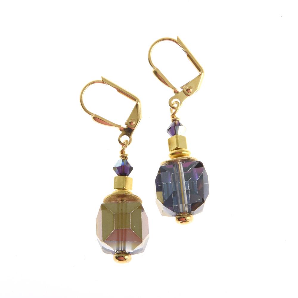 corcra cube earrings