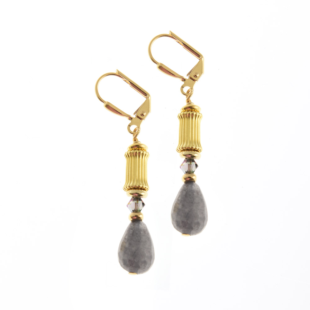 Grecian Grey Earrings