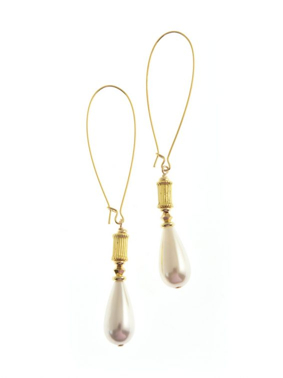 grecian pearl earrings