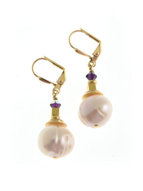corcra pearl earrings