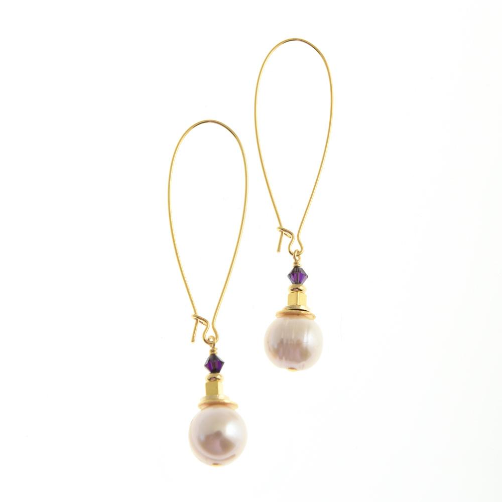 corcra pearl earrings