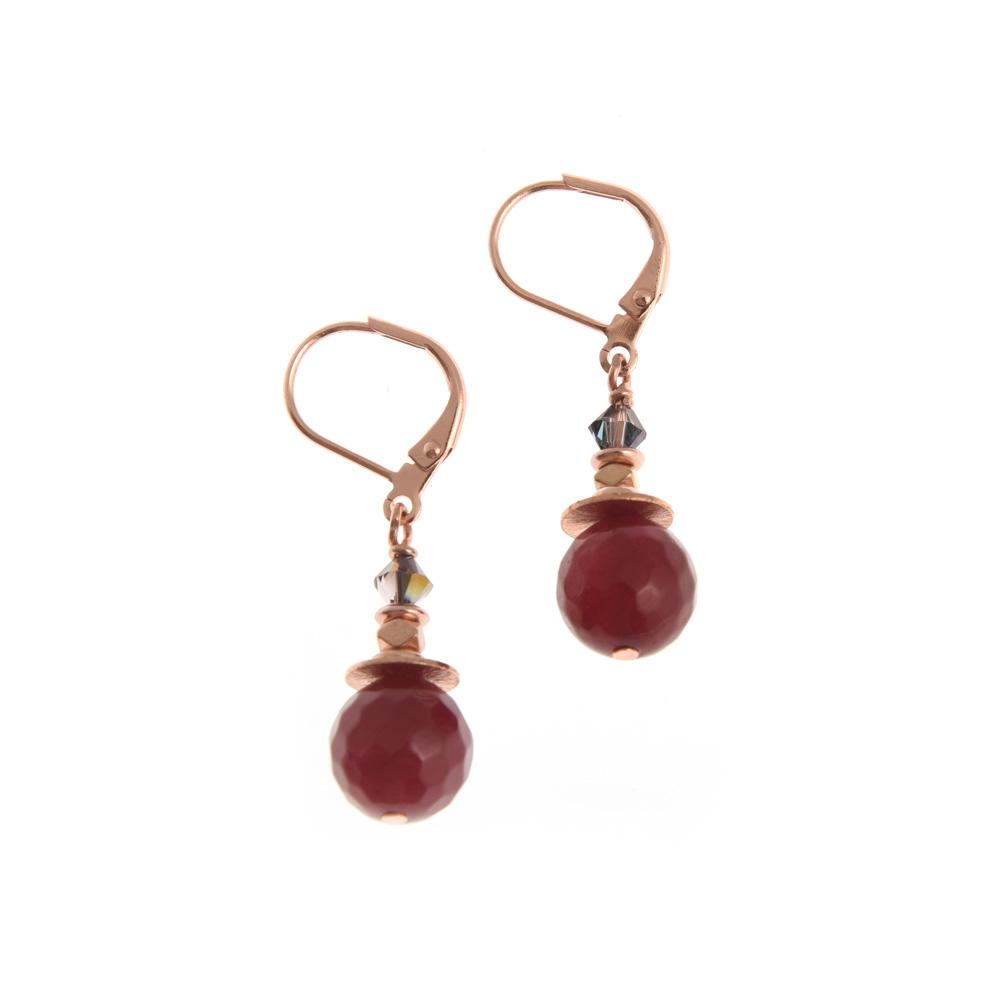 sugar plum linear earrings