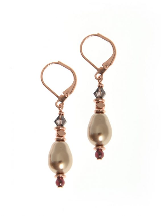 sugar plum pearl earrings