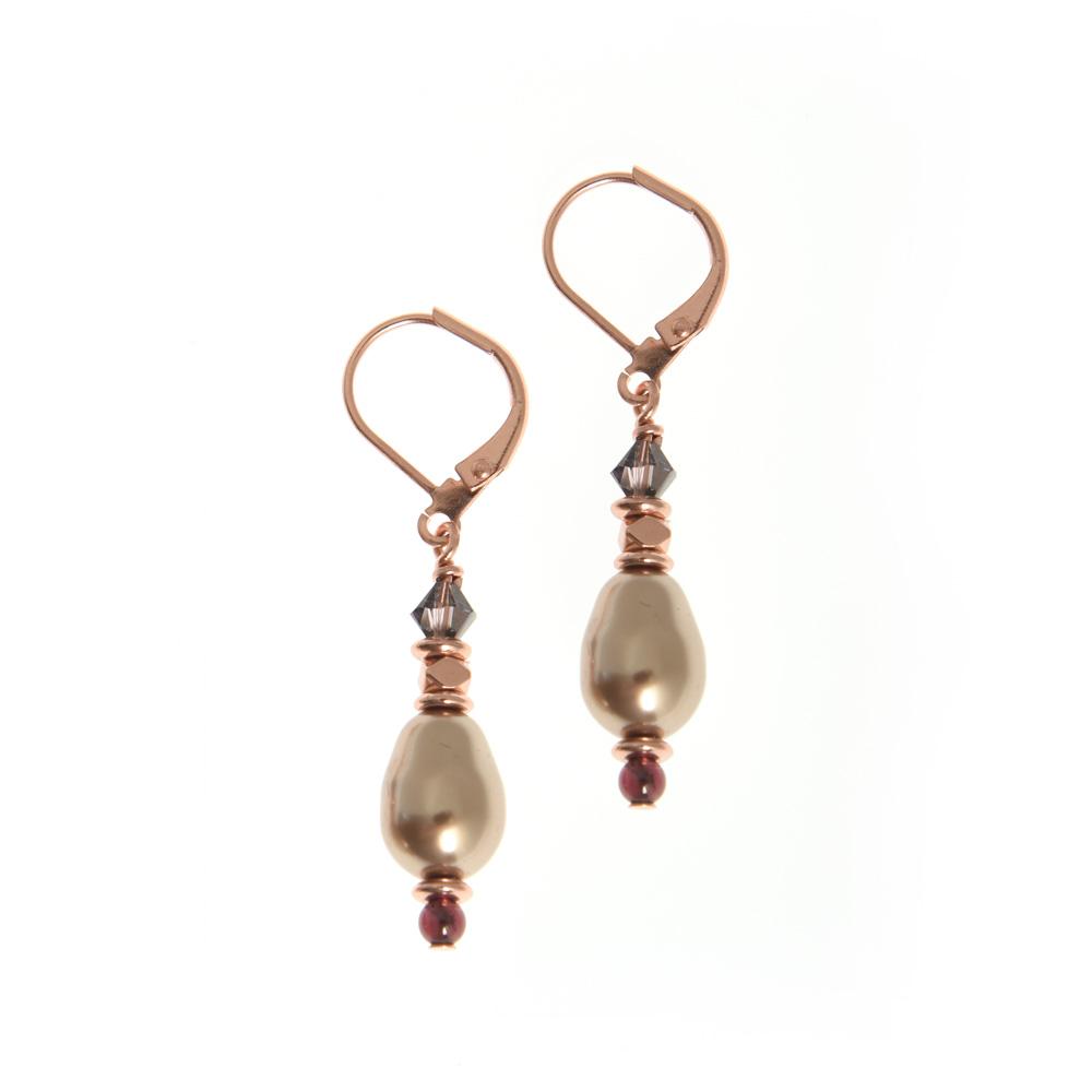 sugar plum pearl earrings