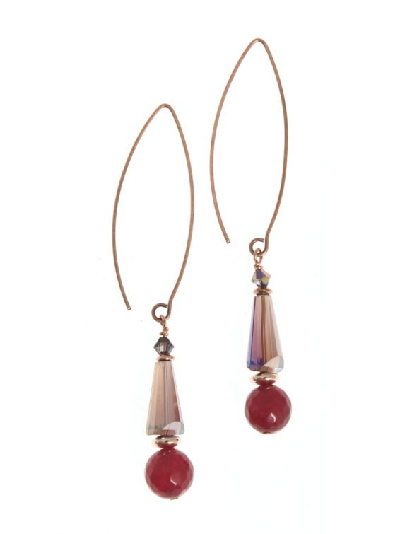 sugar plum vibrant earrings