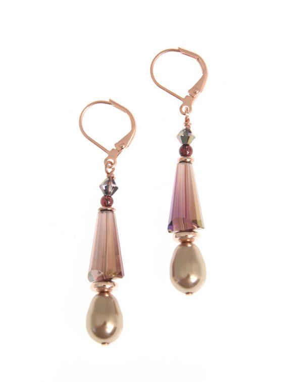 sugar plum cone earrings