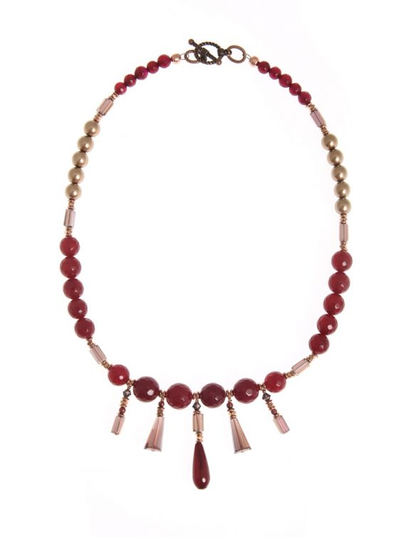 sugar plum statement necklace