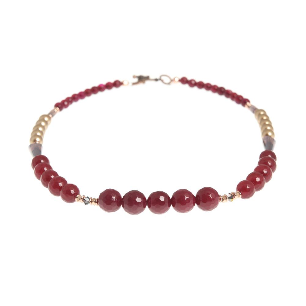sugar plum linear necklace