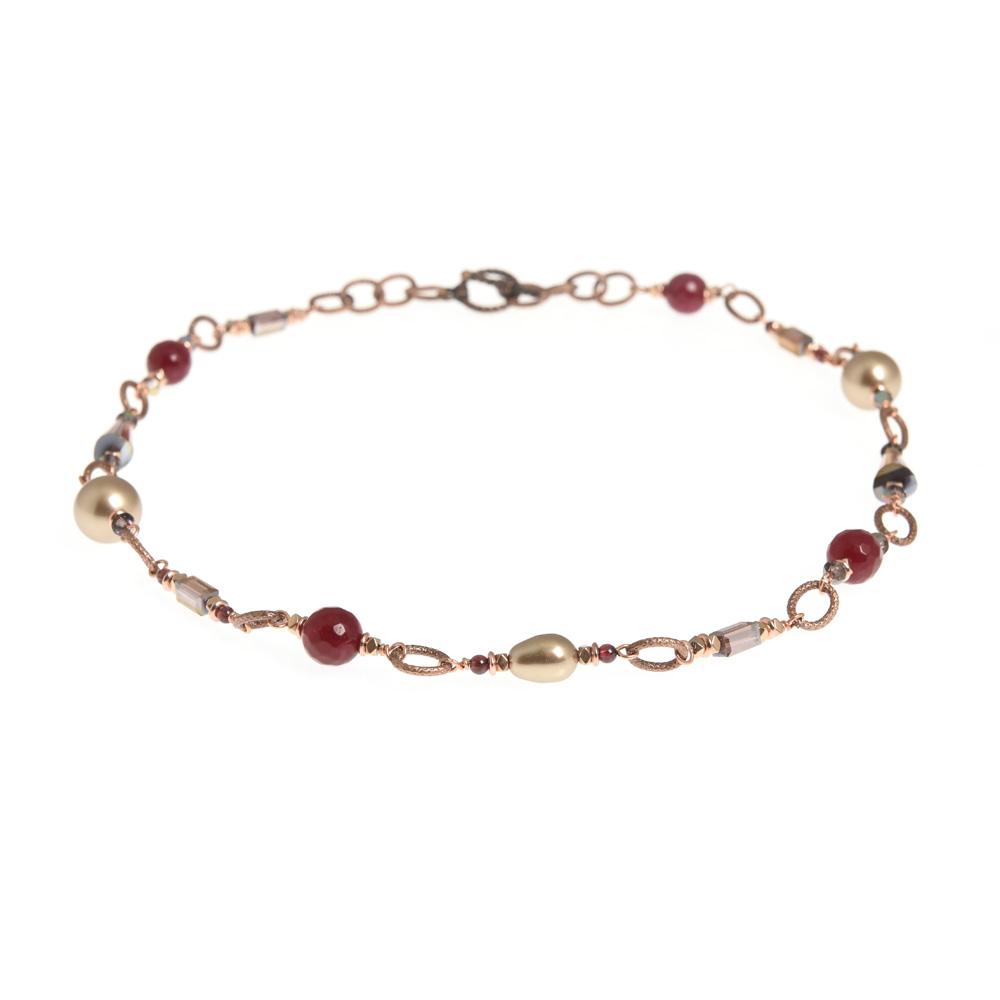 sugar plum link necklace