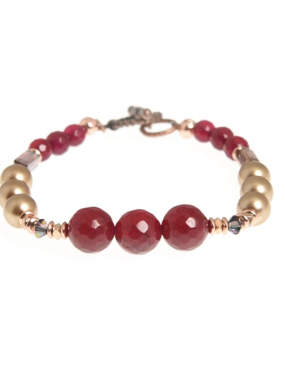 sugar plum linear bracelet