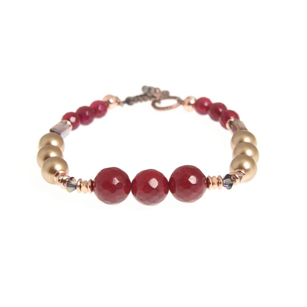sugar plum linear bracelet