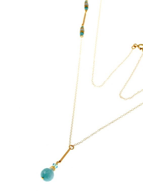 seagreen long necklac