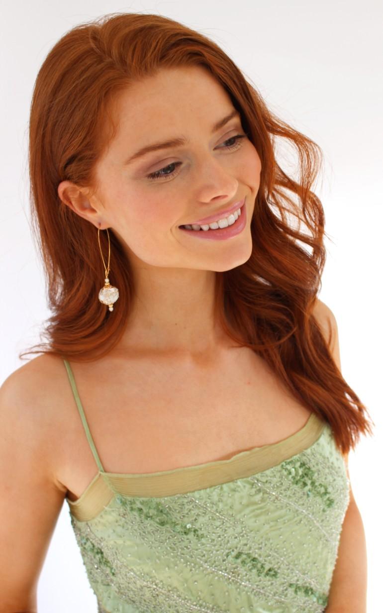 le perle long earrings