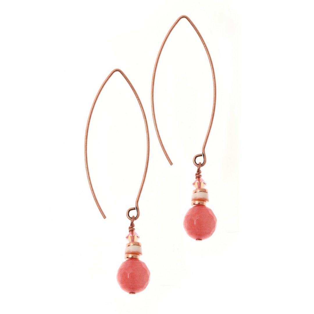 Flamant Pink Shell Earrings