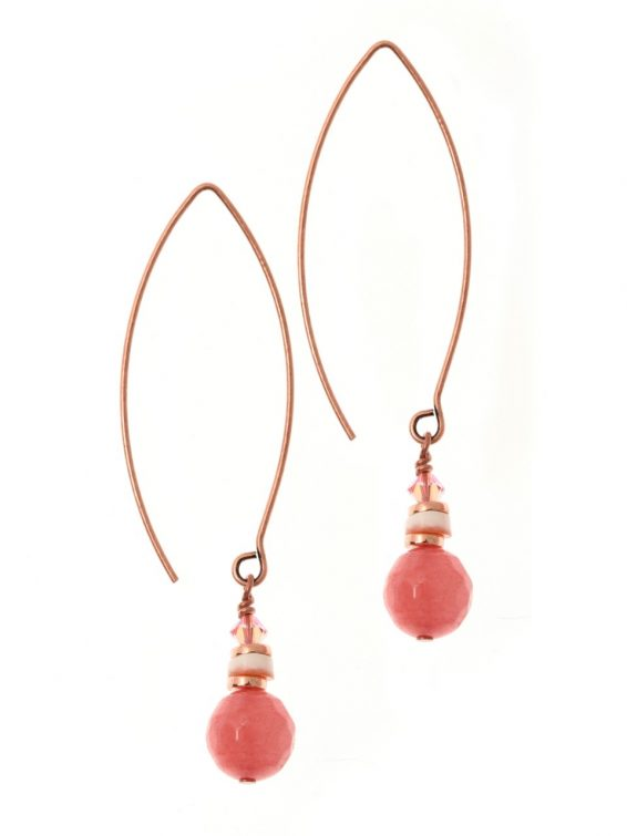 Flamant Pink Shell Earrings