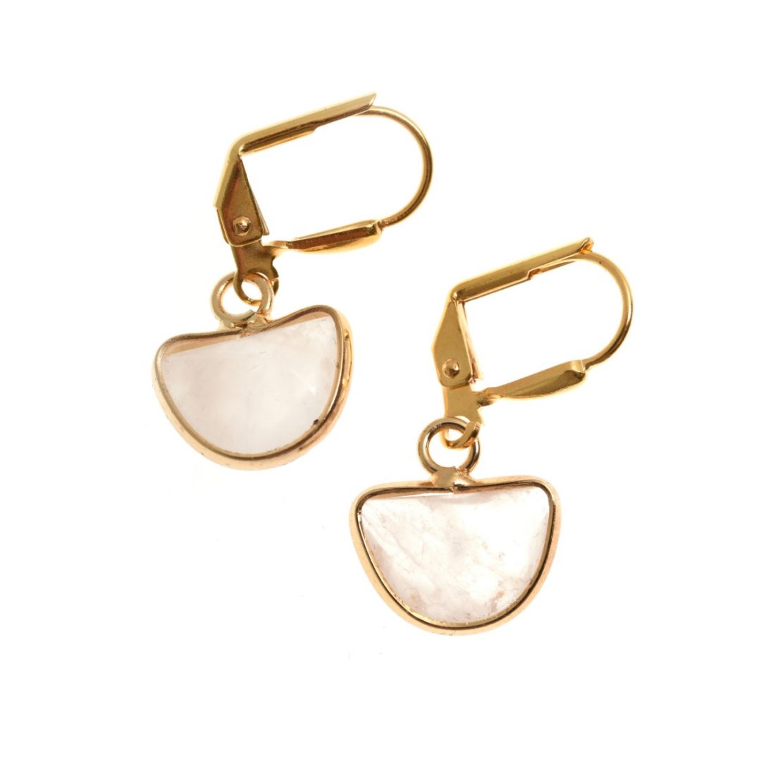 Flamant Crescent Earrings
