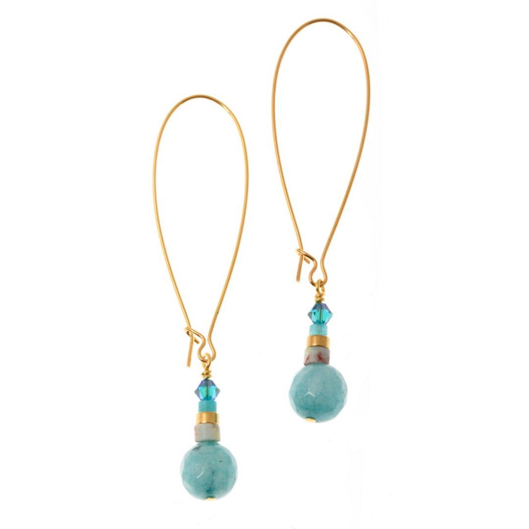Seagreen Turquoise Earrings