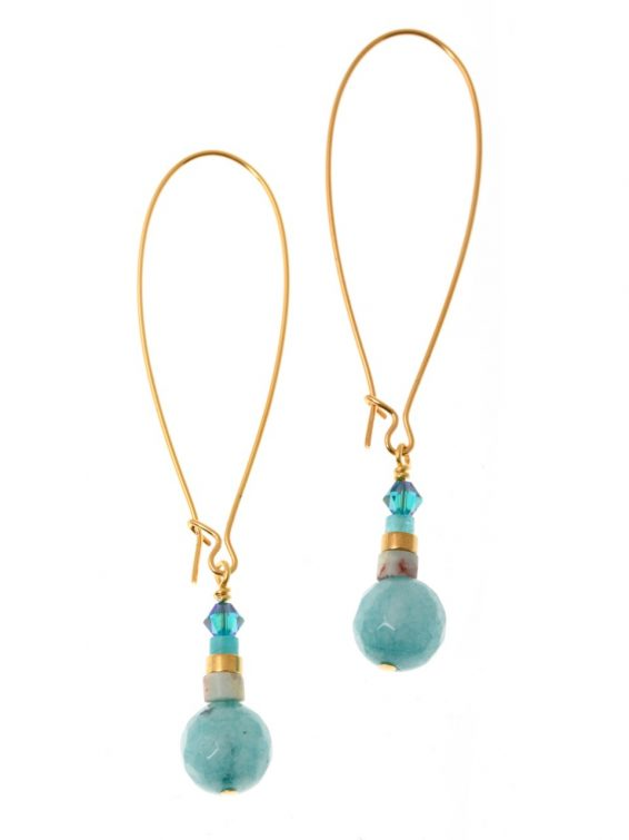 Seagreen Turquoise Earrings