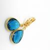 teal drop earrings
