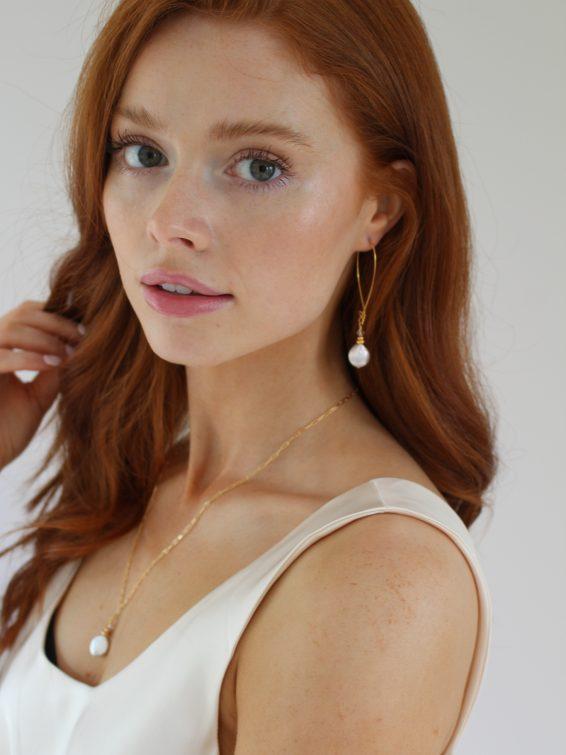 k kajoux pearl earrings