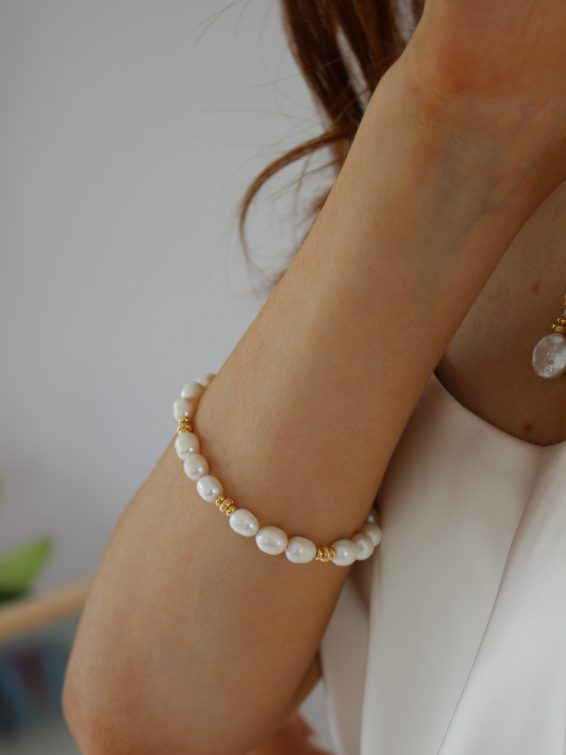 k kajoux pearl bracelet