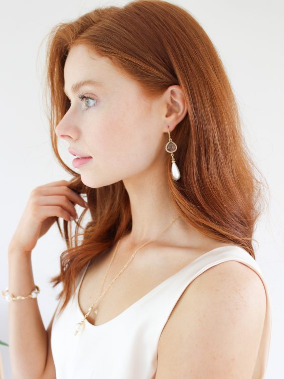 k kajoux pearl earrings